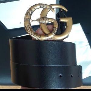 New Gucci snake belt